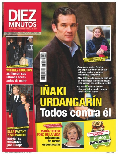 DIEZ MINUTOS portada 15 febrero 2012