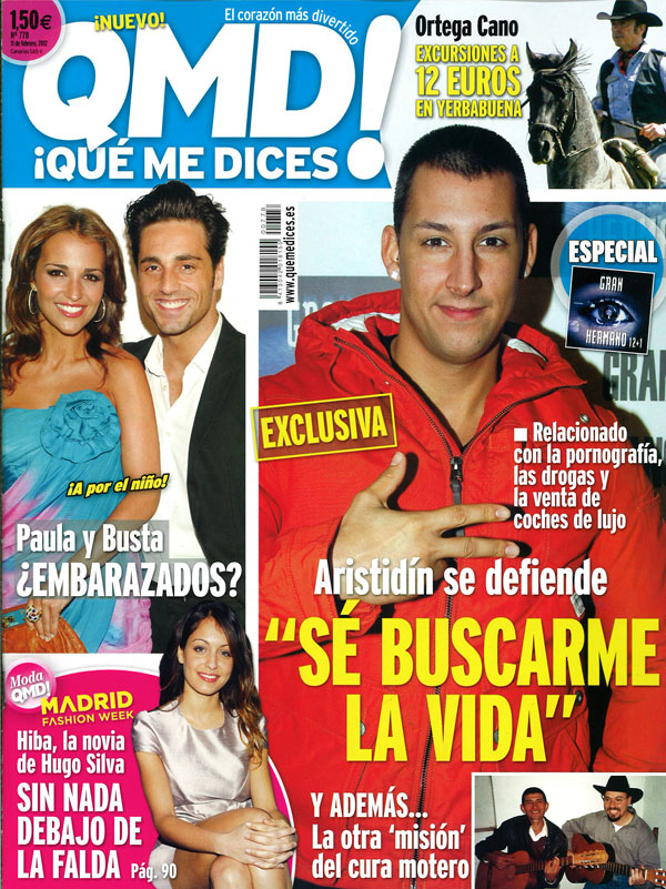 QUE ME DICES! portada 6 febrero 2012