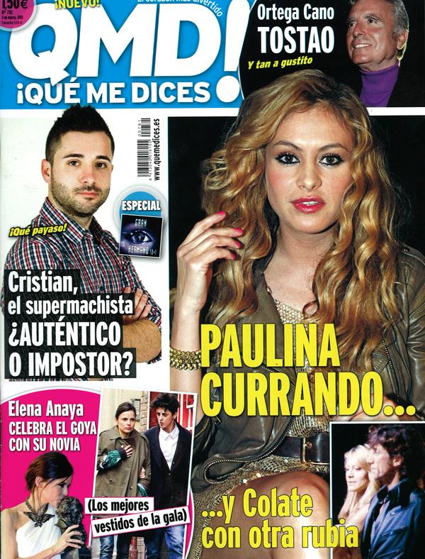 QUE ME DICES! portada 27 febrero 2012