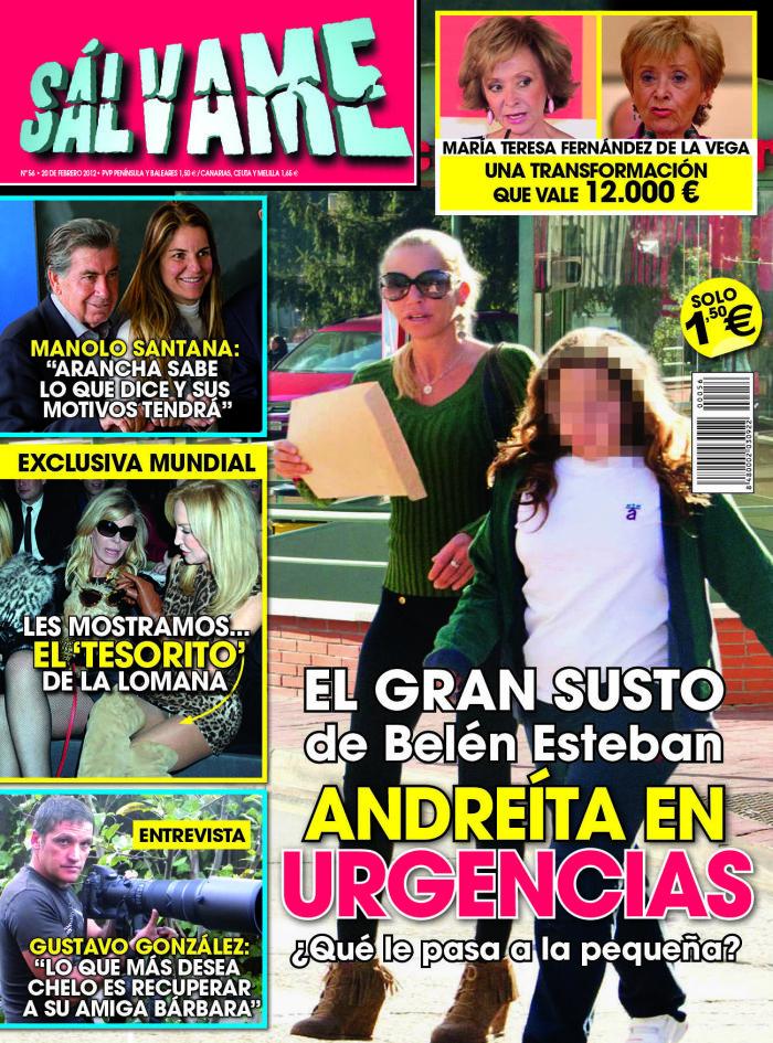 SALVAME portada 15 febrero 2012