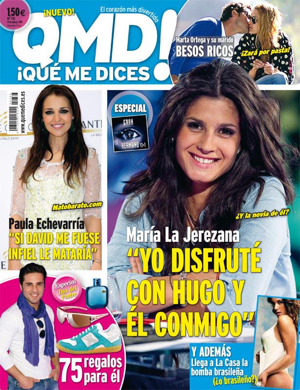QUE ME DICES portada 12 marzo 2012