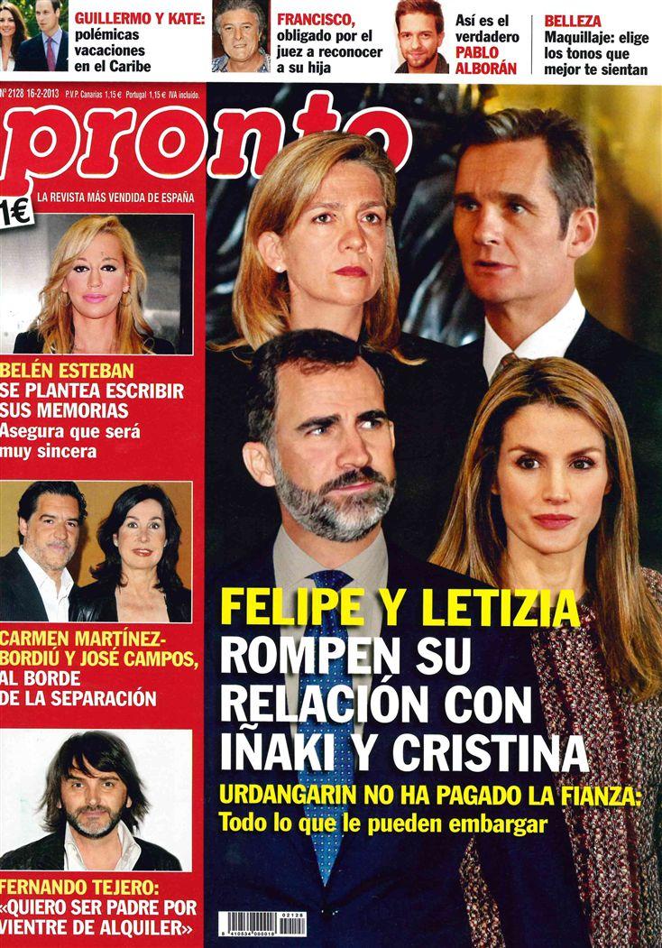 PRONTO portada 11 de febrero 2013