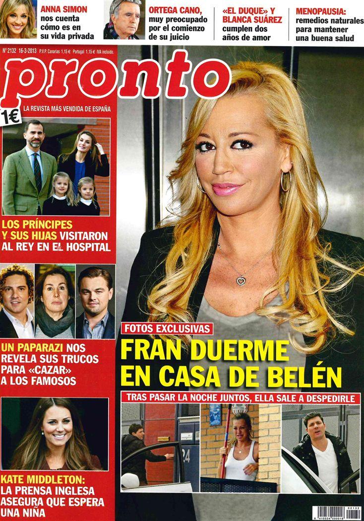 PRONTO portada 11 de marzo 2013