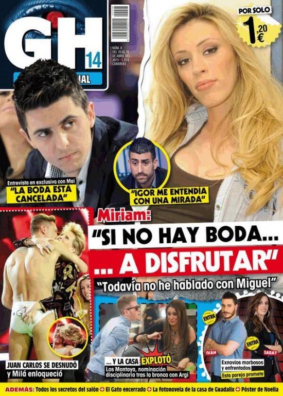 GRAN HERMANO portada 10 de Abril 2013