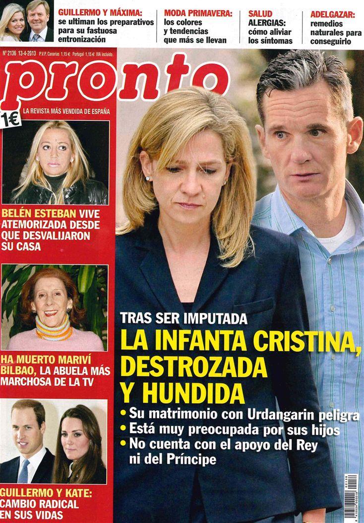 PRONTO portada 08 de Abril 2013