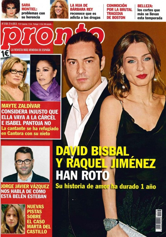 David bisbal y raquel jimenez ya no est n juntos for Revista pronto primicias ya