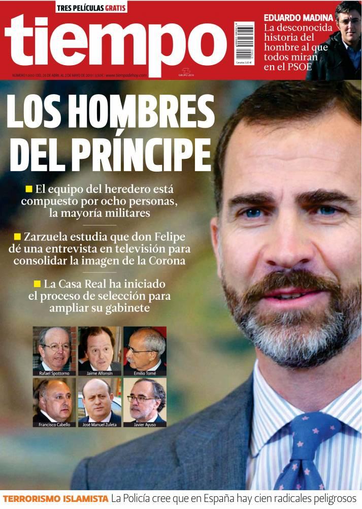 TIEMPO portada 28 de Abril 2013