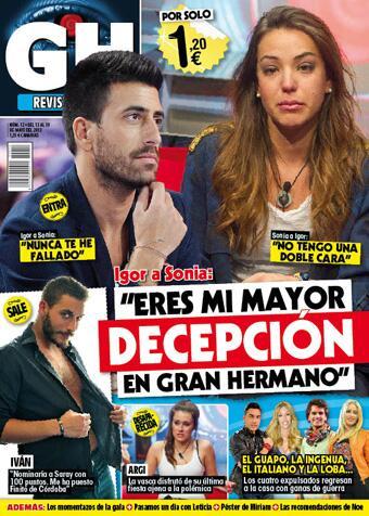 GRAN HERMANO portada 13 de Mayo 2013