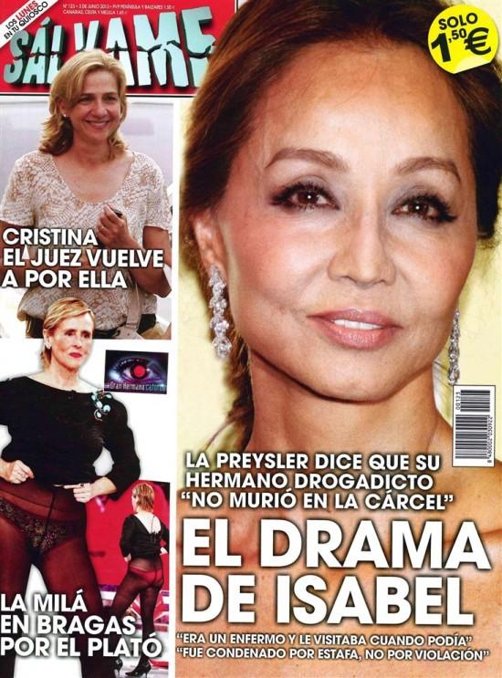 SALVAME portada 27 de Mayo 2013
