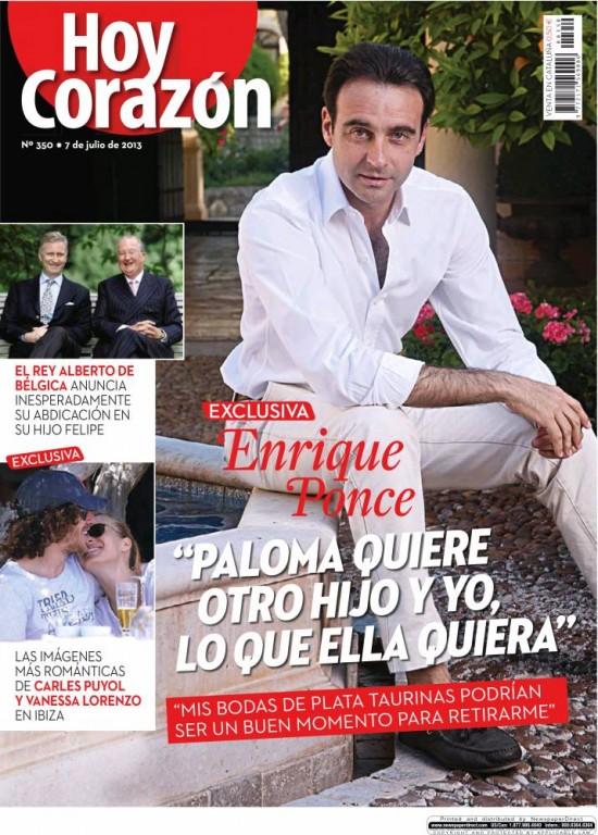 HOY CORAZON portada 8 de Julio 2013