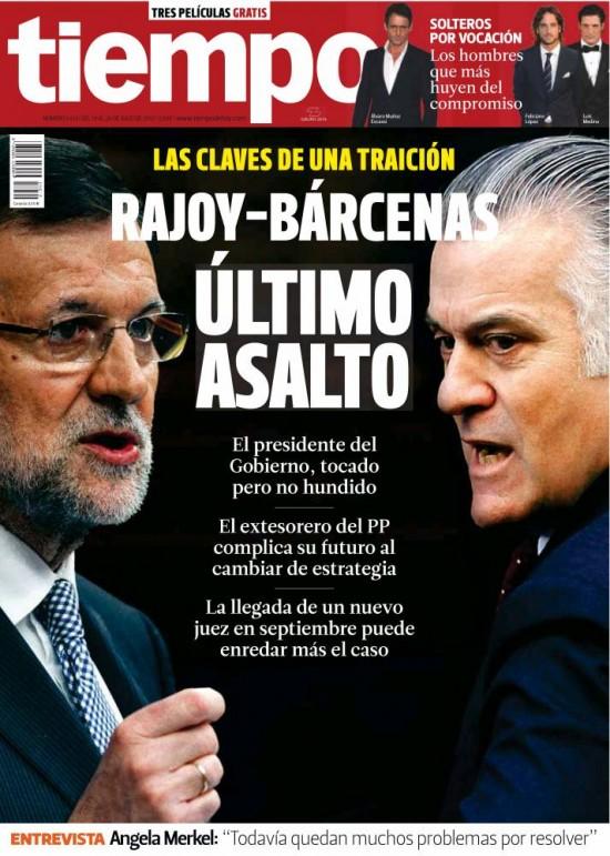TIEMPO portada 21 de Julio 2013