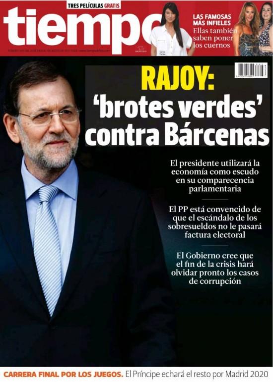 TIEMPO portada 28 de Julio 2013