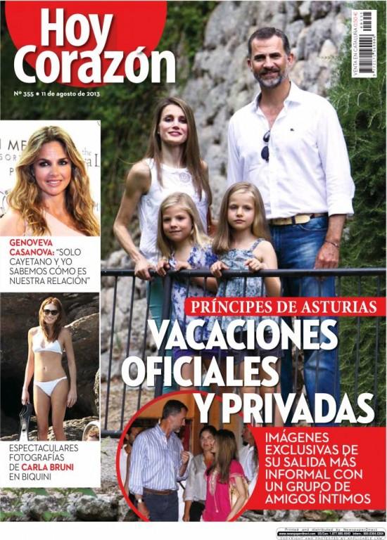 HOY CORAZON portada 12 de Agosto 2013