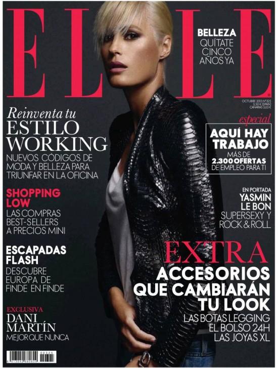 ELLE portada Octubre 2013