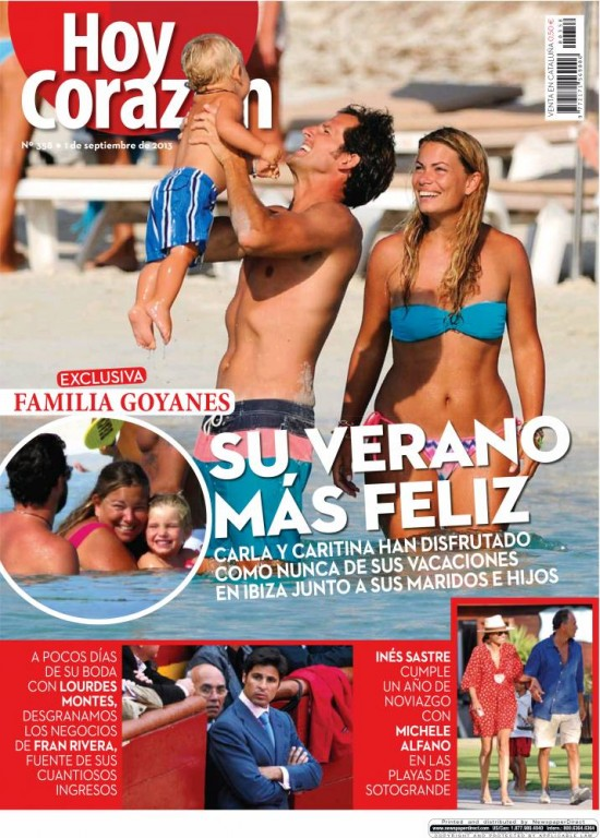 HOY CORAZON portada 2 de Septiembre 2013