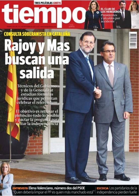 TIEMPO portada 8 de Septiembre 2013