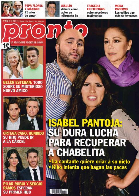 PRONTO portada 18 de Noviembre 2013
