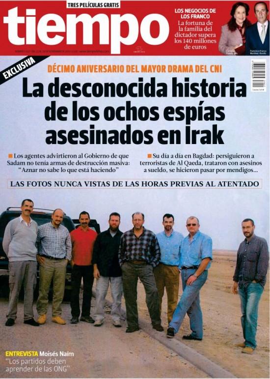 TIEMPO portada 24 de Noviembre 2013