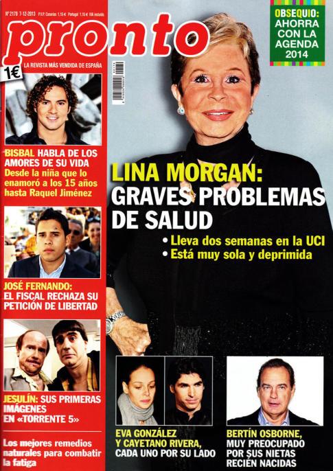PRONTO portada 2 de Diciembre 2013