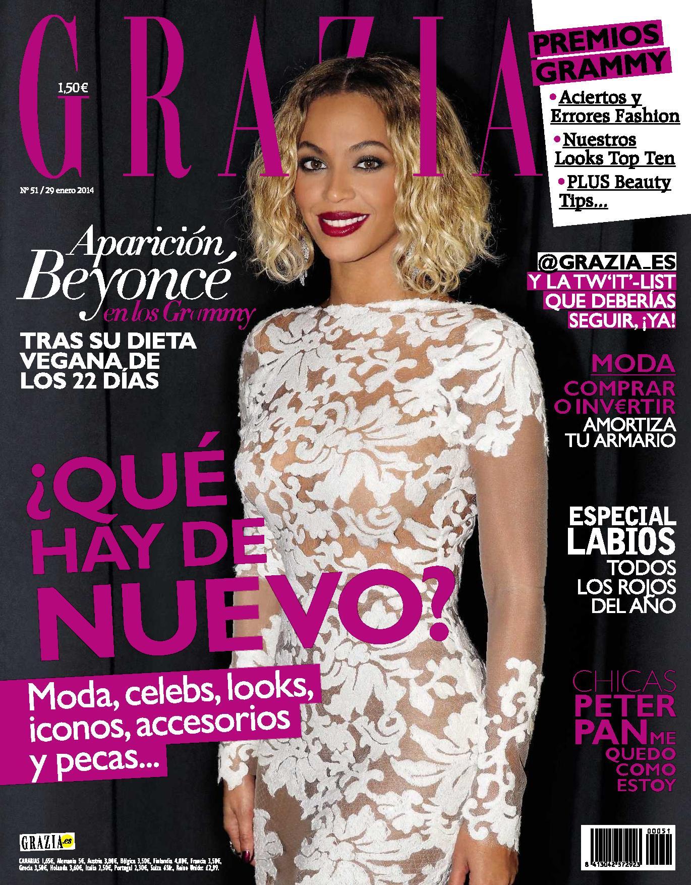 GRAZIA portada 29 de Enero 2014