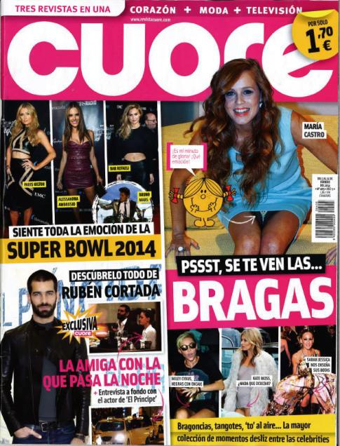 CUORE portada 6 de Febrero 2014
