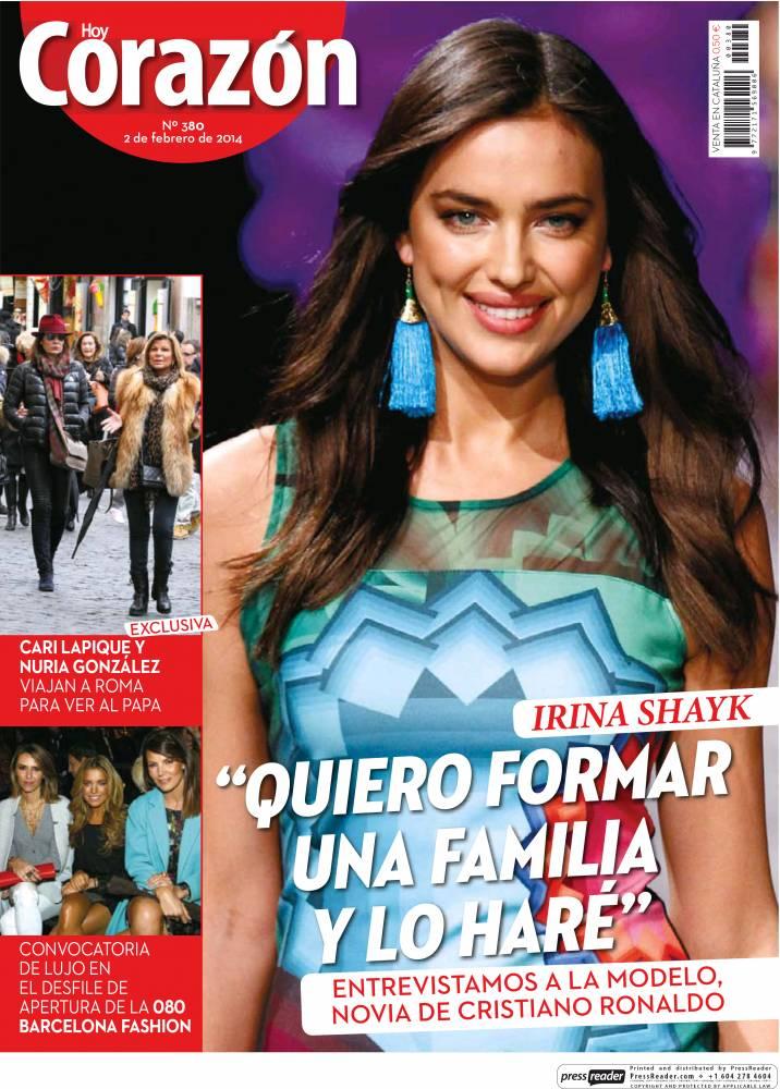 HOY CORAZON portada 3 de Febrero 2014
