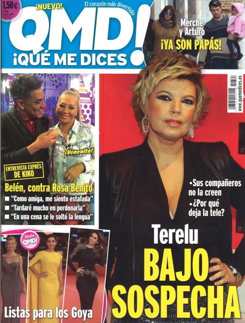 QUE ME DICES portada 03 de Febrero 2014