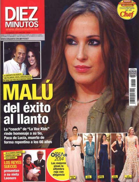 DIEZ MINUTOS portada 5 de Marzo 2014