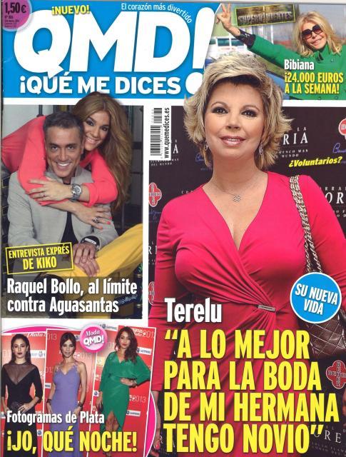 QUE ME DICES portada 3 de Marzo 2014