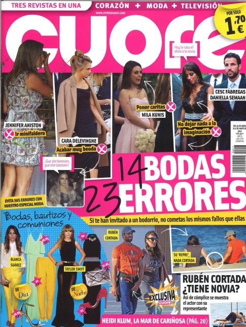CUORE portada 30 de Abril 2014
