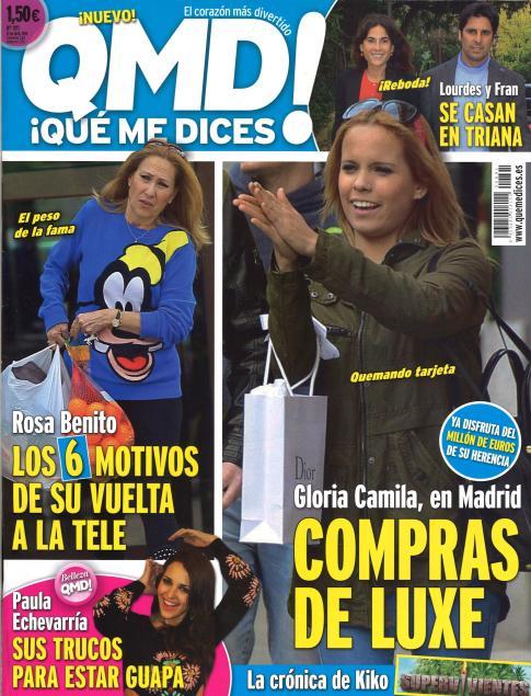 QUE ME DICES portada 7 de Abril 2014