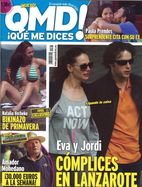 QUE ME DICES portada 21 de Abril 2014