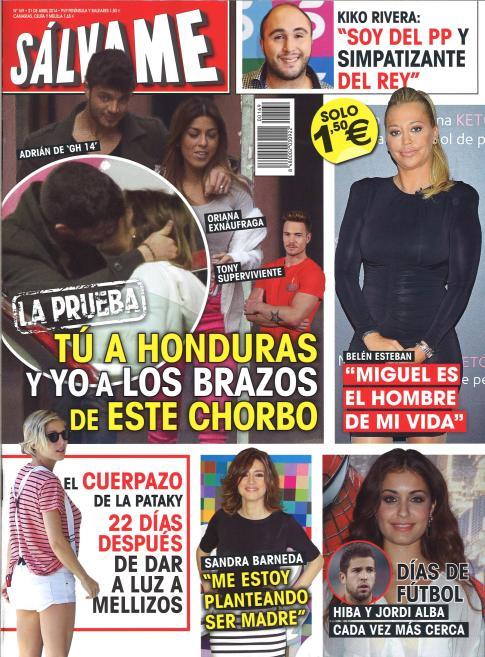 SALVAME portada 14 de Abril 2014