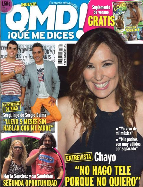 QUE ME DICES portada 16 de Junio 2014