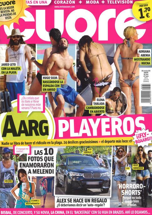 CUORE portada 20 de Agosto 2014