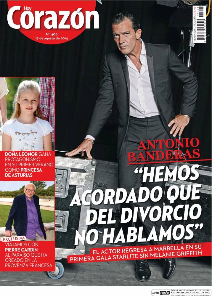 HOY CORAZON portada 18 de Agosto 2014