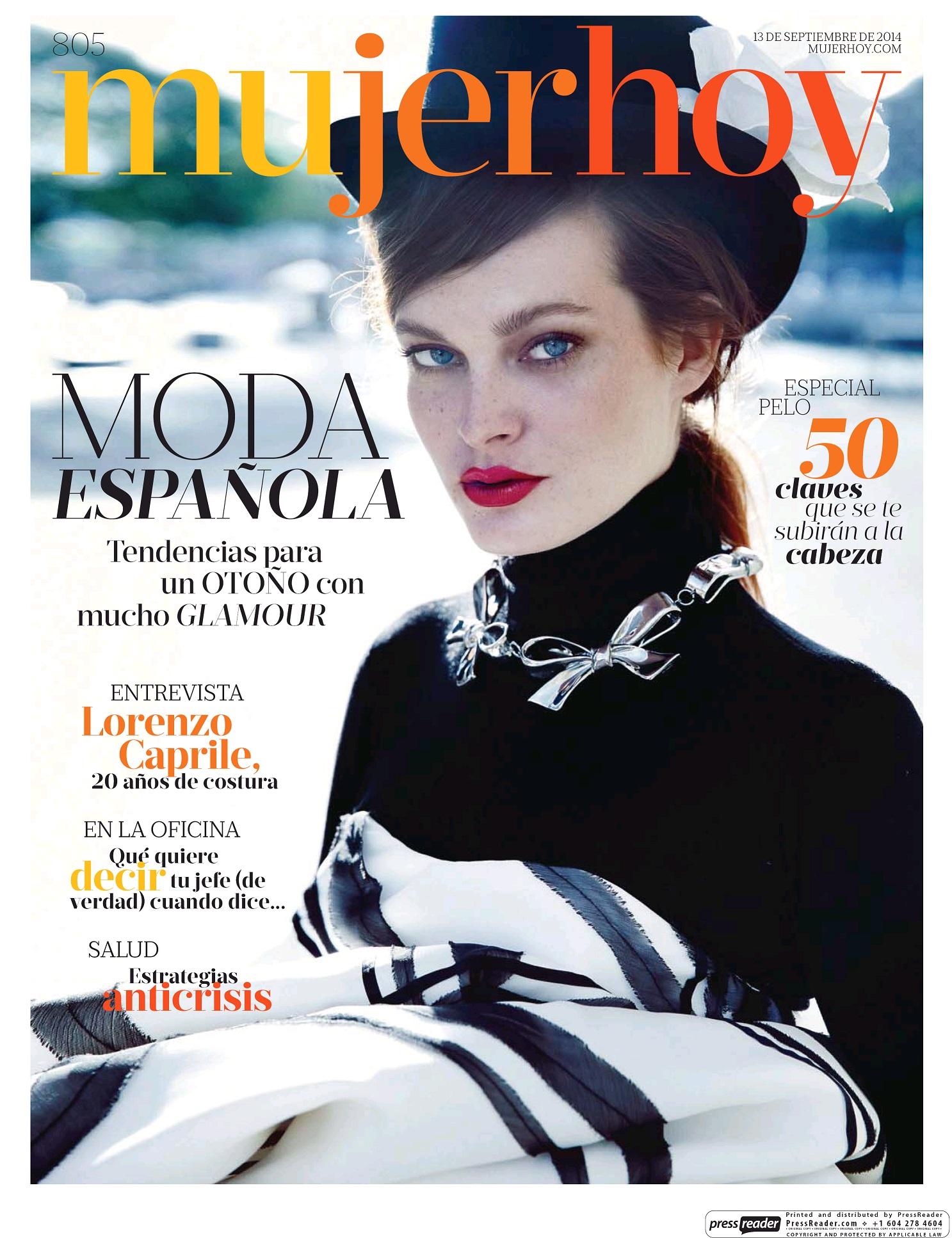 MUJER HOY portada 14 de Septiembre 2014