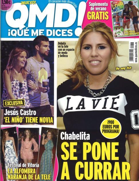 QUE ME DICES portada 8 de Septiembre 2014