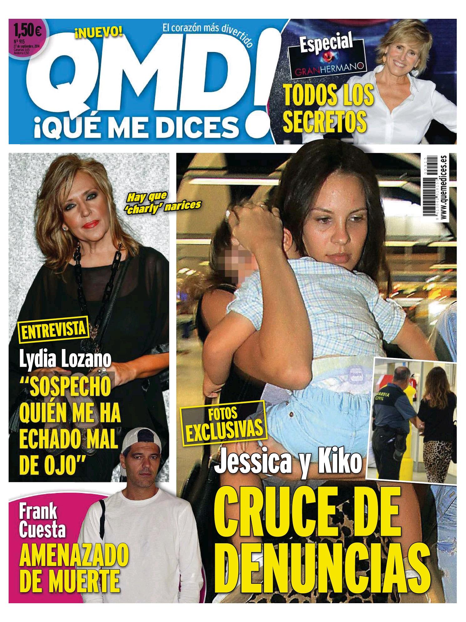 QUE ME DICES portada 22 de Septiembre 2014
