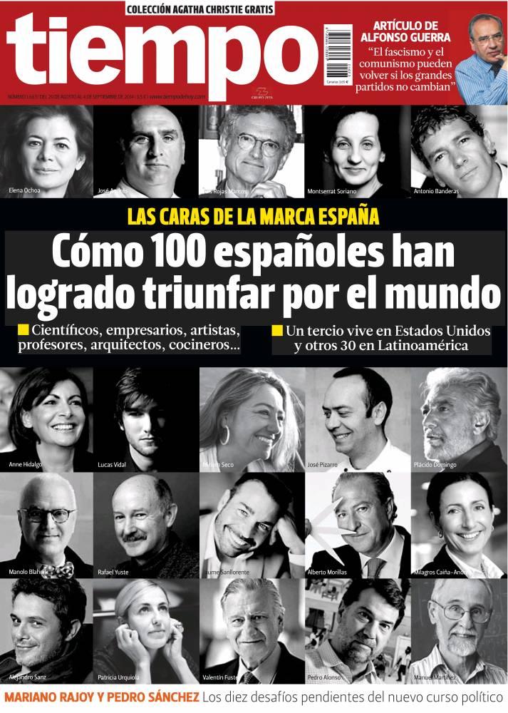 TIEMPO portada 1 de Septiembre 2014