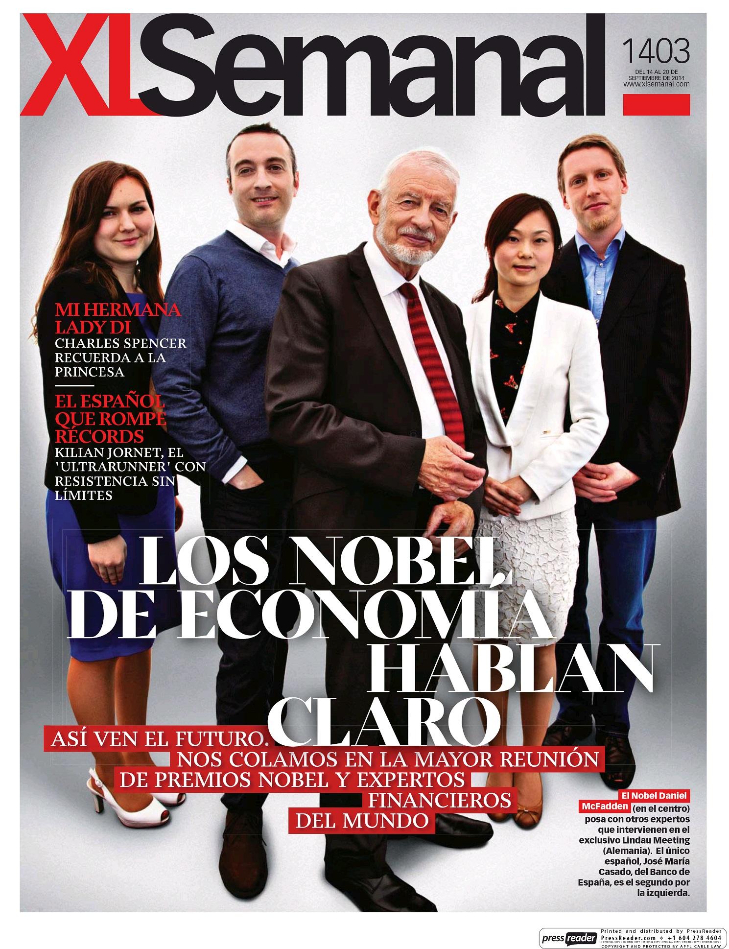 XL SEMANAL portada 14 de Septiembre 2014