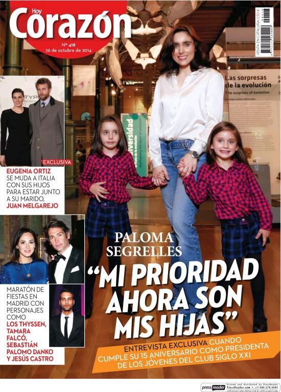 HOY CORAZON portada 26 de Octubre 2014