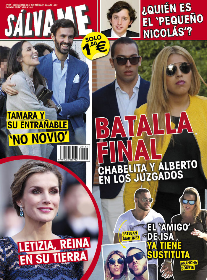 SALVAME portada 27 de Octubre 2014