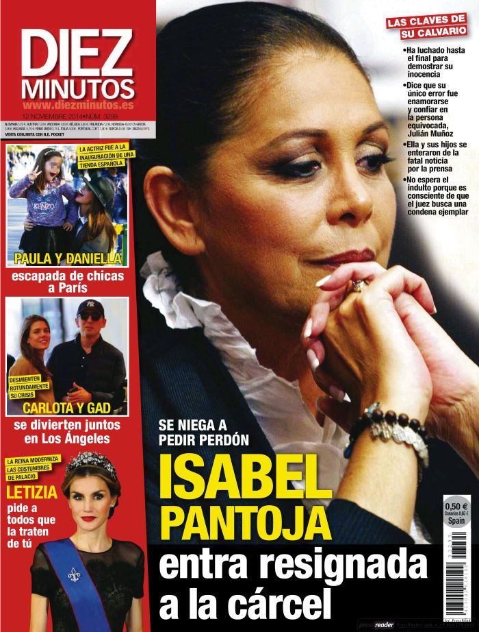 DIEZ MINUTOS portada 5 de Noviembre 2014