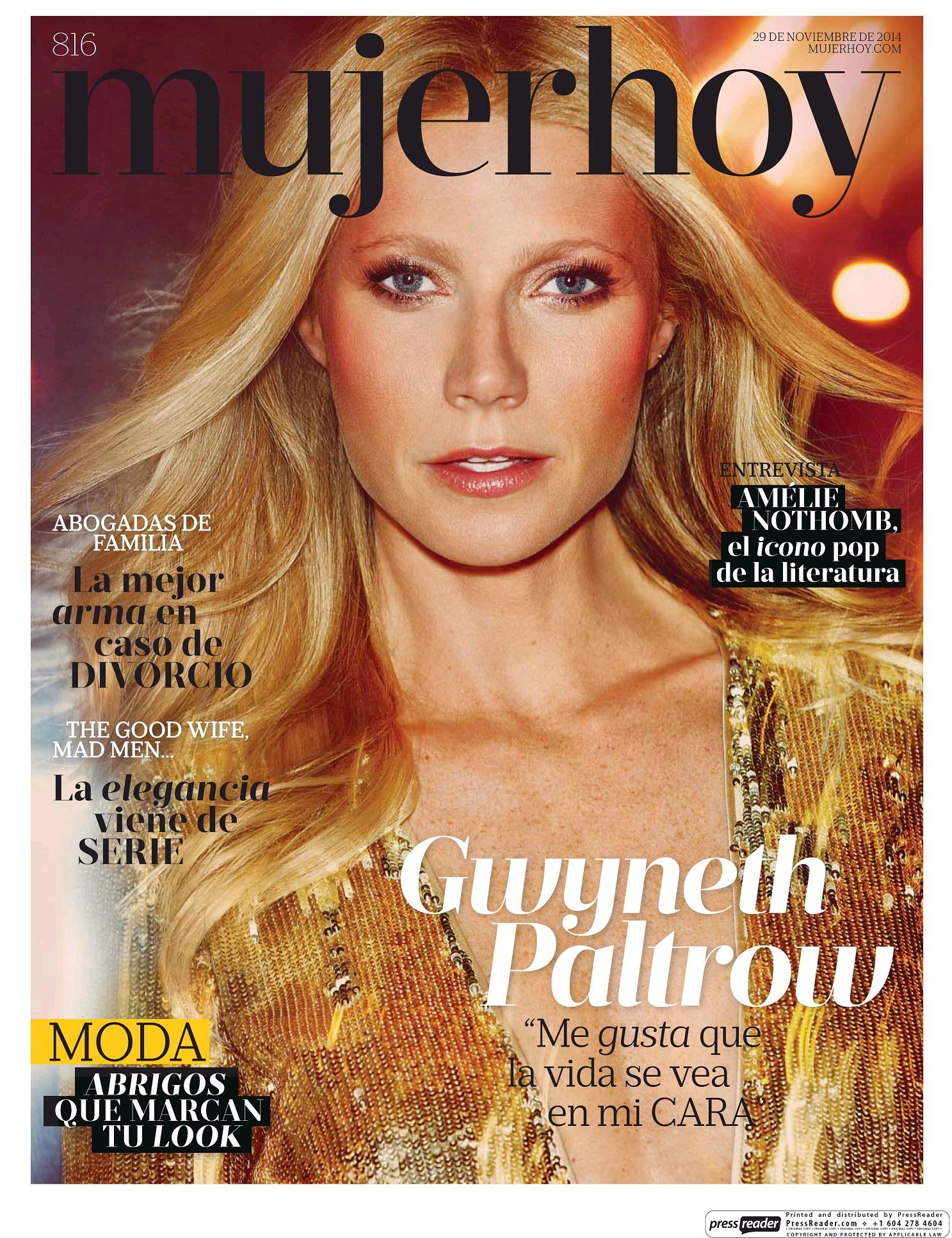MUJER HOY portada 30 de Noviembre 2014