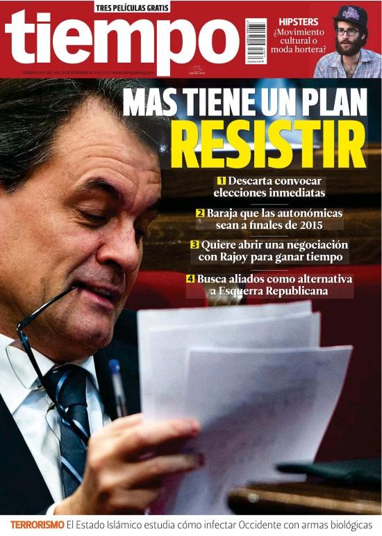 TIEMPO portada 16 de noviembre 2014
