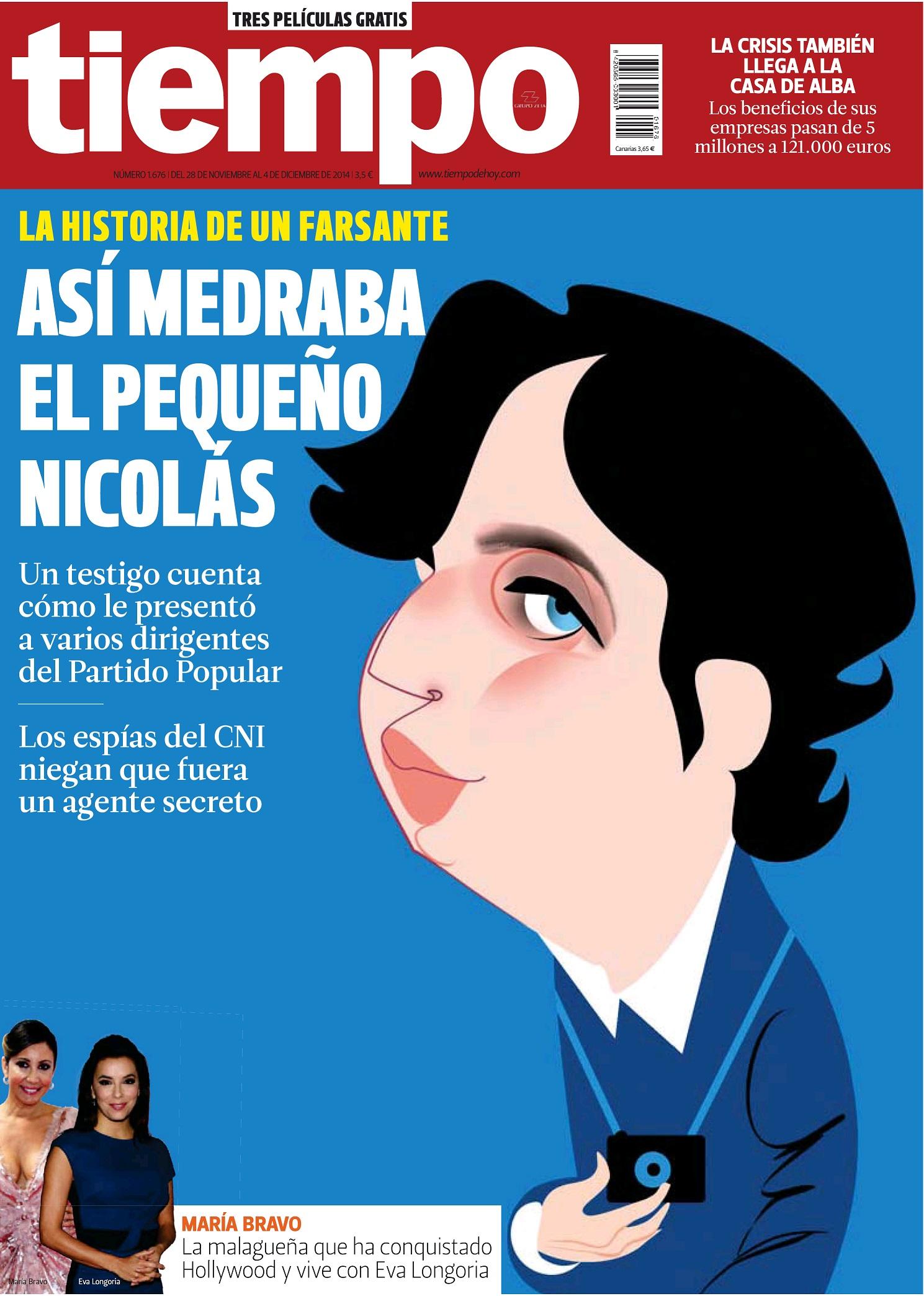 TIEMPO portada 30 de Noviembre 2014
