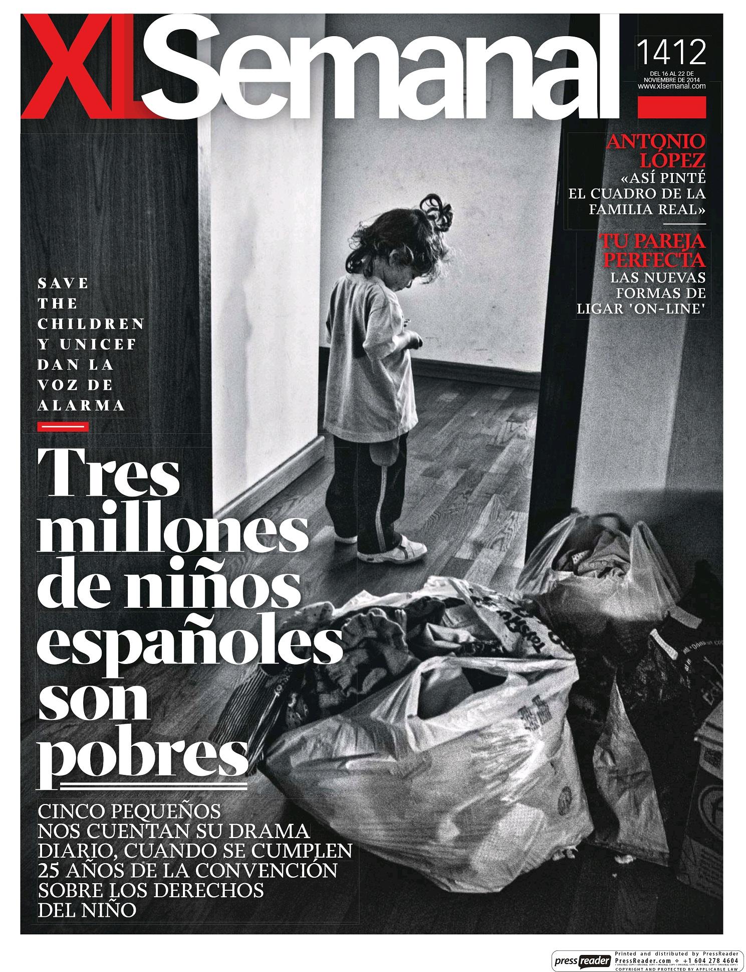 XL SEMANAL portada 16 de Noviembre 2014