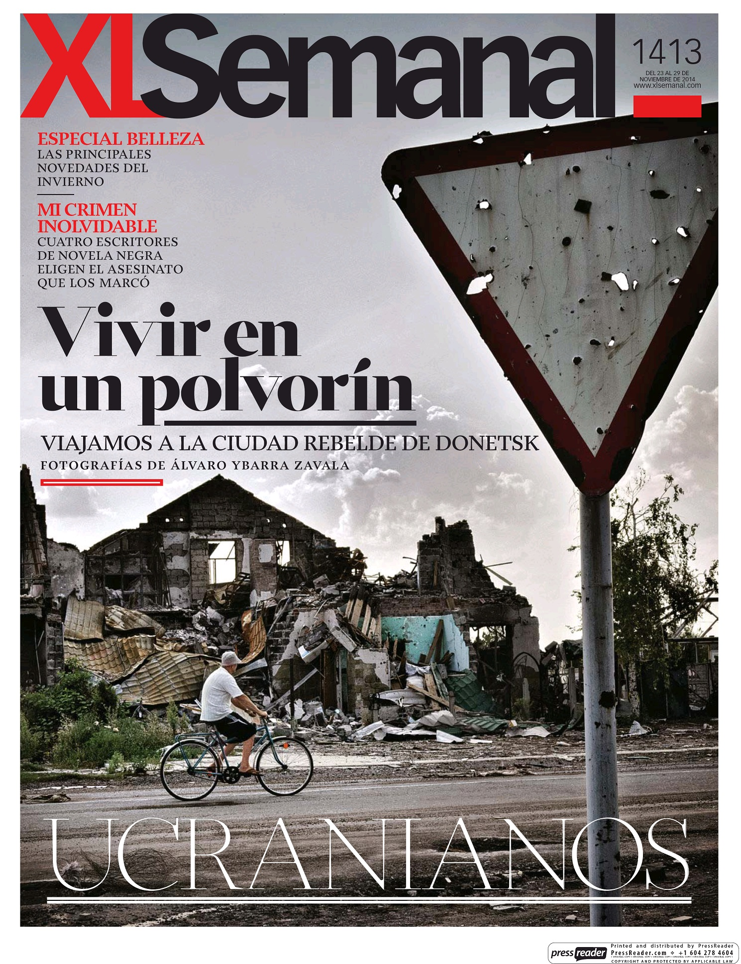XL SEMANAL portada 23 de Noviembre 2014
