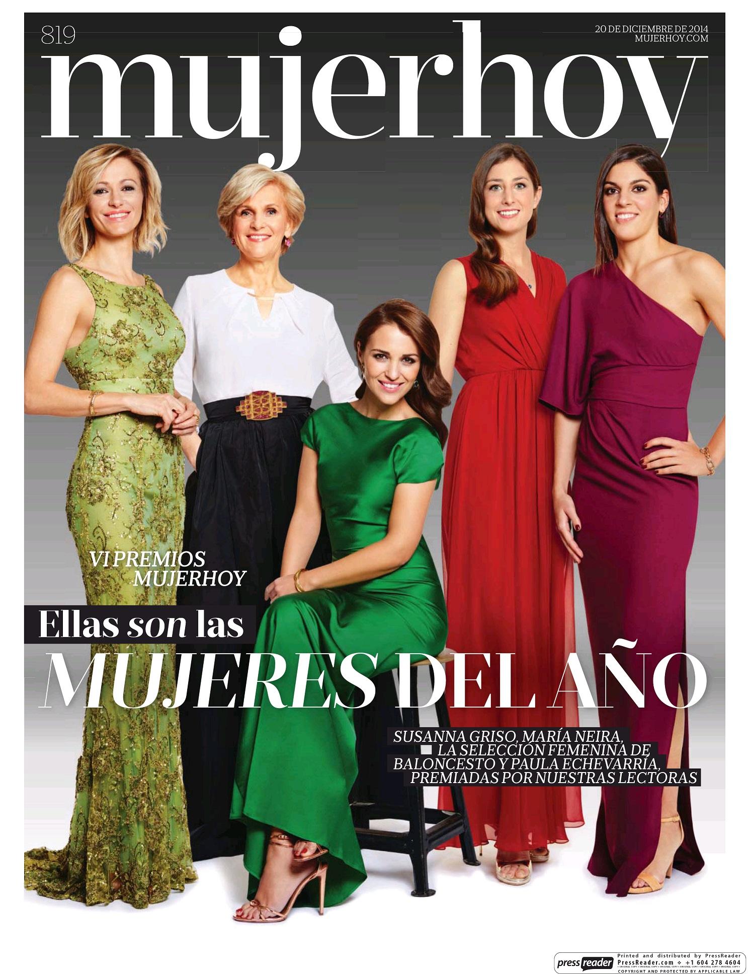 MUJER HOY portada 21 de Diciembre 2014